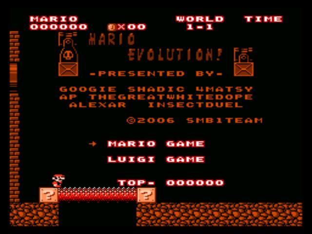 Super Mario Bros  (World) [Hack by SB1Team v1 2] (~Mario